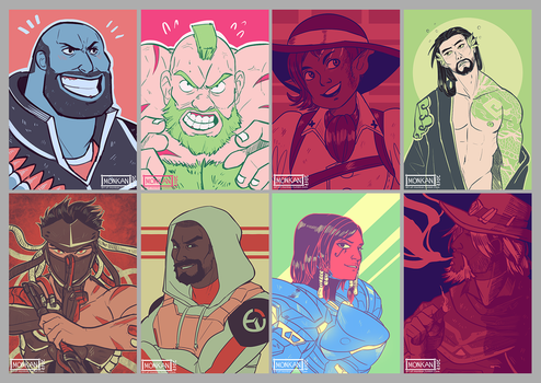 Collection of Color Palette drawings by Monkanponk