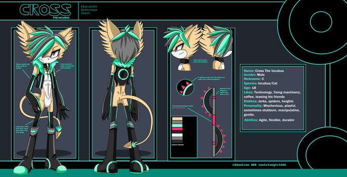 Cross- character reference sheet by sonicfangirl666