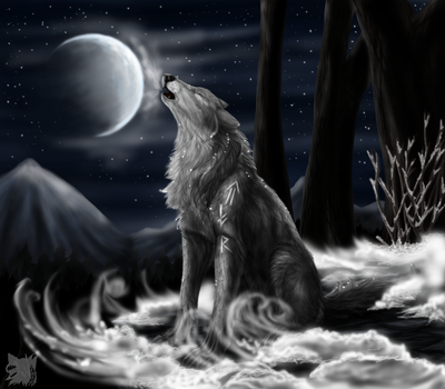 North howl by ScreamingWolfy