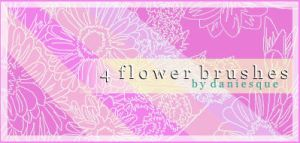 Photoshop 7.0 Flower Brushes by daniesque
