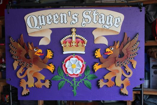 Queen's Stage Sign by RamageArt