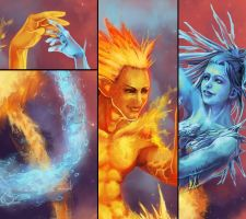 Original: Fire and Ice Details by Risachantag