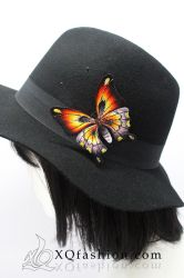 Hand Embroidery Butterfly Brooch by XQFashion