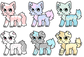 CLOSED : Colorful Themed Canine Adopts 0/6 by Violeta-Adopts