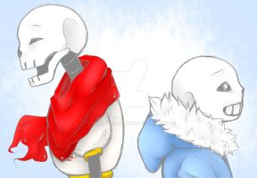 Papyrus and Sans by Honey-Chai