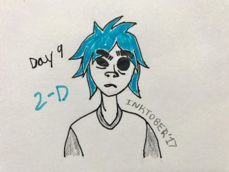 Inktober Day 9- 2-D by Revenir-Ghoul
