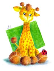 Toy giraffe and ladybird by jkBunny