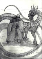 Linnorm VS Inquisitor by draks