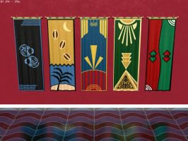Art Deco Inspired Banners by JohnK222