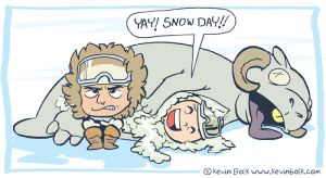 Star Wars Funnies: Snow by kevinbolk