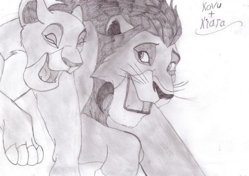 Kovu and Kiara- request by perfectpureblood