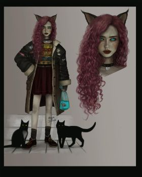 [CLOSED] - Adopt auction - Meow girl by Yearniing-And-Heroin