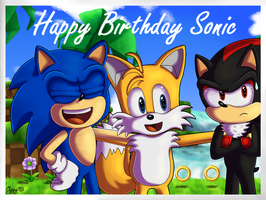 Let's take a photo! | Sonic 24th anniversary by Oggynka