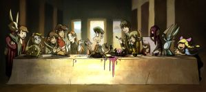 The last Supper by JustaBlink