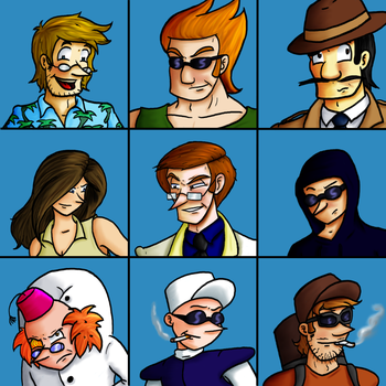 The Detulux Bunch by Psi-Baka-Onna