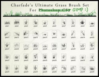Grass Brush Set by Charfade by JustSilvia