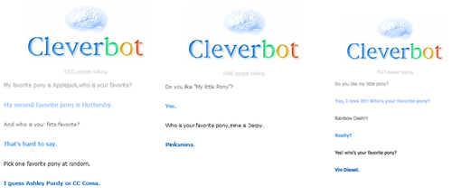 Tripple win for Cleverbot by k0k0t0