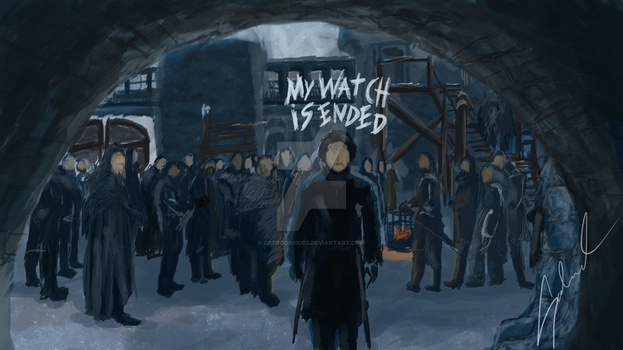 Jon Snow - My Watch is Ended by CptRodrigues