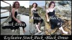 Exclusive Stock -Black Dress- by Gracies-Stock