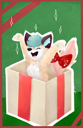Christmas present ych    Ombre by fancyFeline33