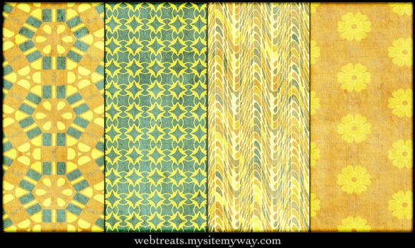 Grungy Festive Patterns by WebTreatsETC
