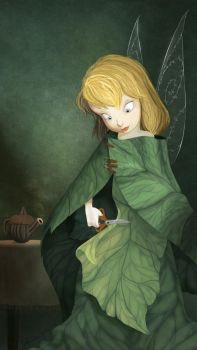 Tinkerbell Making her Dress by DrZime