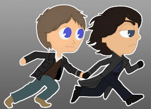 Sherlock and Jawn by Red-Red-Rose