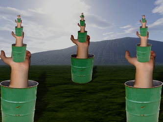 Garbagecanhand Towers by Tasty-Burger