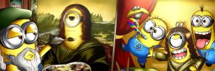 Painting The Mona Minion by Smudgeandfrank
