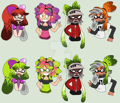 Splatoon - Ranked Team by AuroraArtz