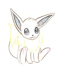 Pokemon Sketch request 02 - Eevee by Azouie