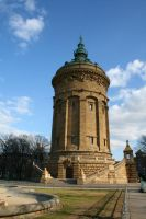 Water Tower Stock 03 by Malleni-Stock