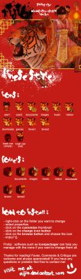 cute chinese tiger custom icons set for windows by Rijio