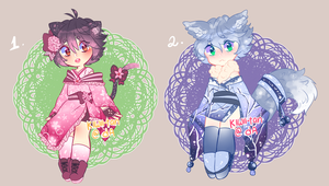 Spring and winter kemonomimi adopts (CLOSED) by Kiwii-tan