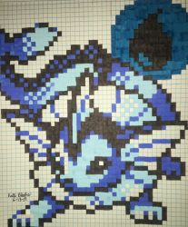 Vaporeon Pixel Art by KeitimariArt