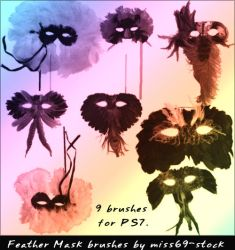 Masquerade Mask brushes by miss69-stock