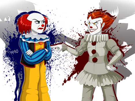 Pennywise and Pennywise 2017 by Emil-Inze