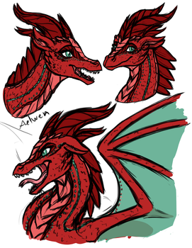 Aelwen Rough Sketches by InkRose98