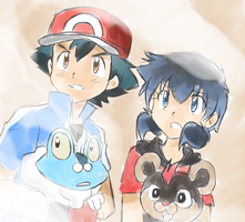 Pokemon XY - Froakie and Litleo