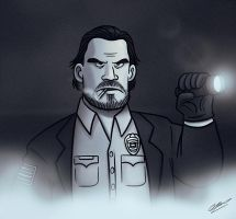 JIM HOPPER by GrievousGeneral