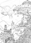Steampunk City lines by Kamikaye
