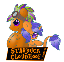 Starbuck and Starlight Trotcon Badge by StarlightLore