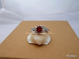 'Fire soul', handmade sterling silver ring by seralune