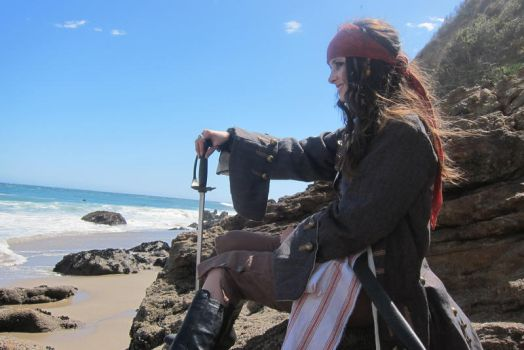 Elo Sparrow - Beach sit pose by elodie50a