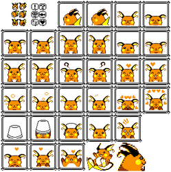Raichu sprites for Pokemon Yellow by Lovux-The-Great