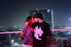 Portraits - A Kiss On Top of the W Hotel by BenHinman