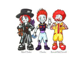 Evil Red-Headed Clowns of Doom by Angel-Uriel