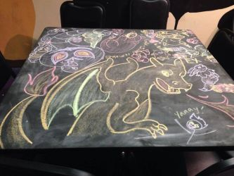 August 2014 Chalk Table by NezuKunoichi