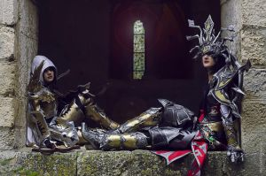 Diablo III...Demon Hunter and Wizard by SakuraFlamme