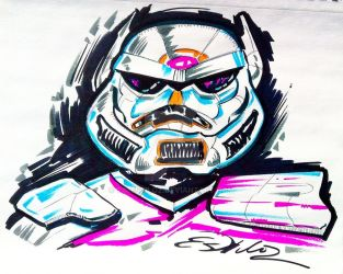 Star Wars Stormtrooper - Abstract by TimEstiloz